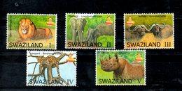 SWAZILAND, 2017,  ANIMALS, BIG FIVE,, 5v. MNH** - Stamps