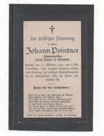 STERBEBILD  JOHANN POINTNER, ZIMMERMEISTER IN UTTENDORF   1899 - Santini