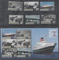 NEW ZEALAND ,2018, MNH, SHIPS, DISASTERS, WAHINE DISASTER, 6v+SHEETLET , HIGH FV - Ships