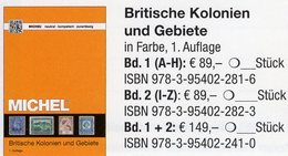 MlCHEL Großbritannien 2018 Kolonien 1+2:A-Z New 149€ Britische Gebiete Stamp Catalogue Old UK ISBN978-3-95402-241-0 - Kronieken & Jaarboeken