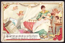 CHROMO Chocolat SUCHARD   +/- 1896  Serie 51    Chansons Populaires     Trade Card - Suchard
