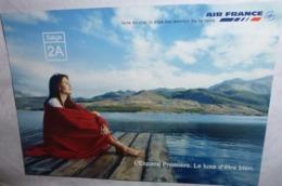 Carte Postale - Air France (avion - Aviation) L'Espace Première. Le Luxe D'être Bien. - Publicité