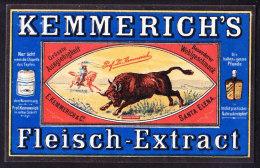 CHROMO   Reklamebild   KEMMERICH'S FLEISCH EXTRACT     Etikette - Autres