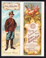 BELLE CHROMO  Dépliant  Reklamebild   Chocolade Fabrik Gustav & Wilhelm HELLER  Wien X  Soldat Osterreich - Chocolat