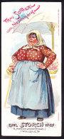 CHROMO   Reklamebild   Emil STORCH  Wien   Lith.  August Matthey  Graz  GRAND FORMAT 8 X 17.8cm  Frau Sopherl  Fiaker - Autres