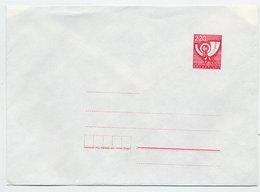 YUGOSLAVIA 1988 Posthorn 220 D. Envelope, Unused. Michel U83 - Postal Stationery