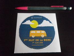Autocollant - 1ERE NUIT DE LA BIERE - 2018 - Autocollants