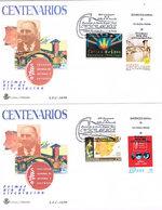 Spanien 2 Sonderumschläge - Carles Buïgas - Katalanischer Architekt Und Schriftsteller - Barcelona - 1931-Heute: 2. Rep. - ... Juan Carlos I