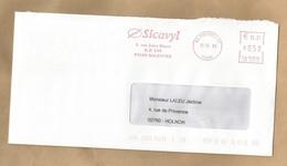Migennes (89) Sicavyl 1 Rue Jules Rimet 2003 Oblitération Mécanique 0,50 € 3 Scans - Postmark Collection (Covers)