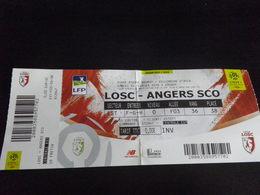 Ticket Football LILLE ANGERS LOSC SCOA - 2017 2018 - Habillement, Souvenirs & Autres