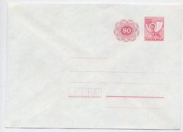 YUGOSLAVIA 1987 Posthorn 80 On 60 D. Envelope, Unused. Michel U78 - Postal Stationery