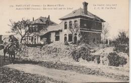 80 - MAUCOURT - La Mairie Et L' Ecole - Autres Communes