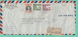 LETTRE RECOMMANDEE DE BANGKOK POUR BERKLEY,U.S.A.,14-9-54. - Siam