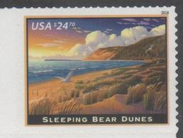 USA, 2018,  MNH, SLEEPING BEAR DUNES, BIRDS, SEAGULLS, MOUNTAINS, 1v, HIGH FV - Seagulls