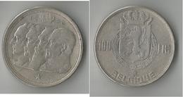 BELGIQUE  100 FRANCS 1950 ARGENT - 1945-1951: Régence