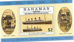 1996 Bahamas Radio Centenary Ships Titanic Souvenir Sheet  MNH - Bahamas (1973-...)