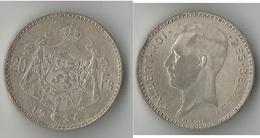 BELGIQUE  20 FRANCS 1934  ARGENT - 1909-1934: Albert I