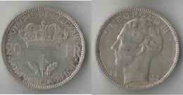 BELGIQUE  20 FRANCS 1935  ARGENT - 1934-1945: Leopold III