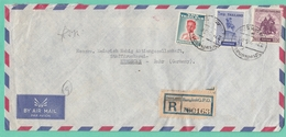 LETTRE RECO. DE BANGKOK POUR HERDECKE/RUHR,1956. - Thaïlande