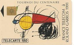CARTE¤PUBLIC-F153.770--120U-S O3-05/91-ROLAND GARROS 1991-V° N° 1 Avec Barre-UTILISE-TBE - France
