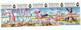 1999 Bahamas National Trust Flamingoes Birds Complete Strip Of 5   MNH - Bahamas (1973-...)