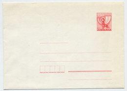 YUGOSLAVIA 1977 Posthorn 1.50 D. Envelope, Unused. Michel U70 - Postal Stationery