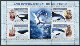 Guinea Bissau, 2007, International Dolphin Year, Boats, Ships, MNH, Michel 3546-3549 - Guinée-Bissau