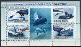 Guinea Bissau, 2007, International Dolphin Year, Boats, Ships, MNH, Michel 3554-3557 - Guinée-Bissau