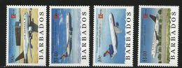 1996 Barbados Canadian Commercial Aviation Aircraft Complete Strip Of 4   MNH - Barbados (1966-...)