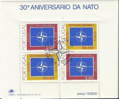 PORTUGAL  30 ANISERARIO NATO - Blocks & Kleinbögen