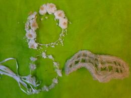 Lot De 6 Couronnes De Mariee-ou Autre Bibi En Voile - Wedding