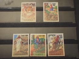 GHANA - 1984 PASQUA PITTURE 5 VALORI - NUOVI(++) - Ghana (1957-...)