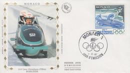 Enveloppe  FDC  1er  Jour   MONACO   Jeux   Olympiques   D' ALBERTVILLE    1992 - Winter 1992: Albertville