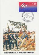 Carte  Maximum  1er  Jour  Bicentenaire  De  La   REVOLUTION      MONTAUBAN  1er  Janvier   1989 - Révolution Française