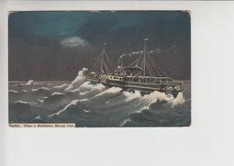 Balaton, Siofok  STEAMER Used 1916 Postcard (st373) - Hungary
