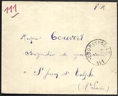 CM 123  Correspondance Militaire De 1915 Cachet Trésor Et Postes Simple Cercle N°(SP)111 QG De La 6ème Armée - Marcofilie (Brieven)