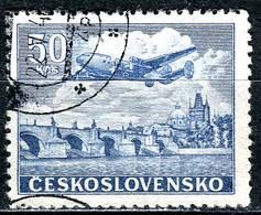 A12-17-8) CSSR - Michel 500 - OO Gestempelt (B) - 50Kc  Flugpostmarke Lockheed Constellation L-049 - Czechoslovakia