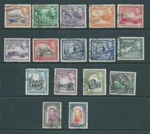 Cyprus 1938 KGVI Definitives First Issue Set Of 16 FU - Chypre (République)