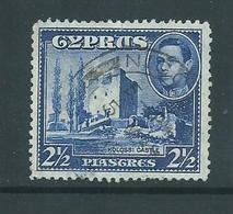 Cyprus 1938 KGVI Definitives 2.5 Piastre Blue Castle FU - Chypre (République)