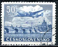 A12-18-1) CSSR - Michel 500 - OO Gestempelt (L) - 50Kc  Flugpostmarke Lockheed Constellation L-049 - Czechoslovakia