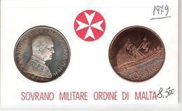 S.M.O.M. - 1979- Monete Da 10 Gra In Argento  FDC In Confezione Originale - Malte (Ordre De)