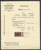 ESTLAND Estonia 1902 Pernau Pärnu Russland Russia Revenue Fiscal Tax Stamp Quittung - Estonia