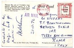 TRINIDAD & TOBAGO - MARACAS BAY ON TRINIDAD'S MOUNTAINOUS NORTH COAST / RED METER/E.M.A. POINTE A PIERRE 1972 - Trinidad