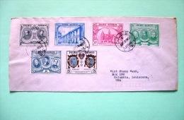 Peru 1951 Cover To USA - San Marcos University (full Set) - Peru