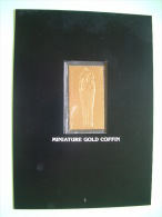 Staffa Is., UK (local) Egypt Pharaoh Tutankhamun - 23K Gold Foil Stamp - Miniature Gold Coffin - Vinyl Records