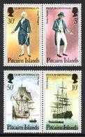 PITCAIRN ISLANDS 1976 Bicentenary Of American Revolution: Set Of 2 Pairs UM/MNH - Pitcairn