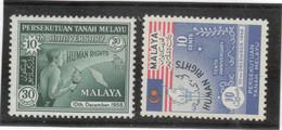 CP 57 - MALAYSIA - PO 89/90** De 1958 - Droits De L' Homme. - Malaysia (1964-...)