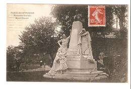 Paris - Montrouge  Monument Trarieux - Square Denfert - Statues