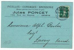 Suisse // Schweiz // Switzerland // 1907-1939 // Carte Publicitaire Et Commerciale  Au Départ De Genève - Briefe U. Dokumente