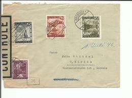 Autriche, Lettre Censure, Innsbruck - Zürich Suisse (21.6.1946) - 1945-60 Storia Postale